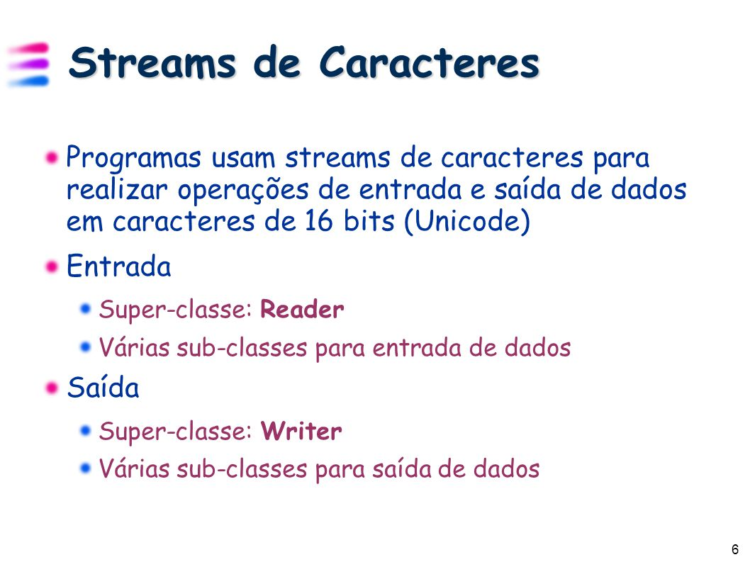 27 Deserialização Deserialização (leitura) FileInputStream: stream de conexão ObjectInputStream: Stream que faz a deserialização Exemplo de código FileInputStream in = new FileInputStream( save.ser ); ObjectInputStream ois = new ObjectInputStream( in ); Date d = (Date) ois.readObject(); ois.close();