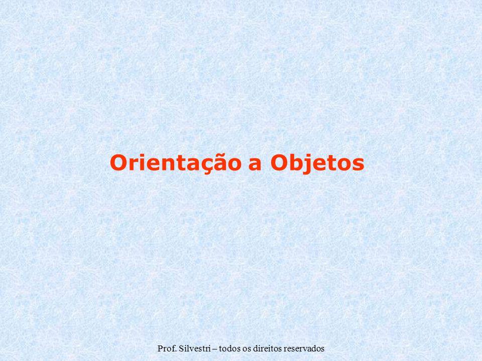 Prof. Silvestri – todos os direitos reservados Orientação a Objetos