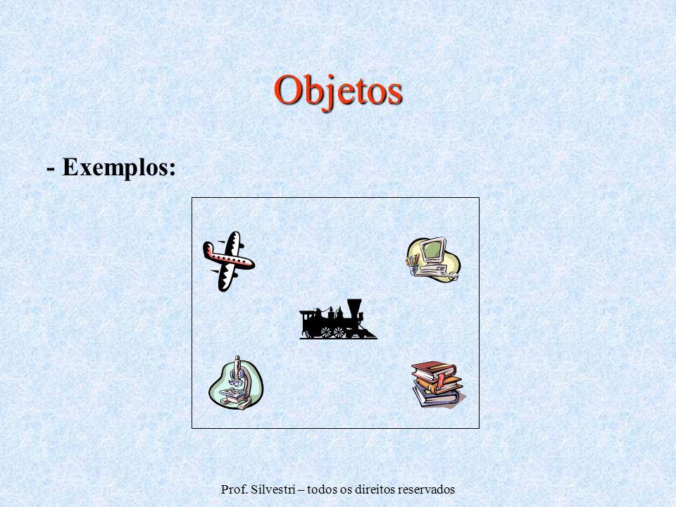Prof. Silvestri – todos os direitos reservados Objetos - Exemplos: