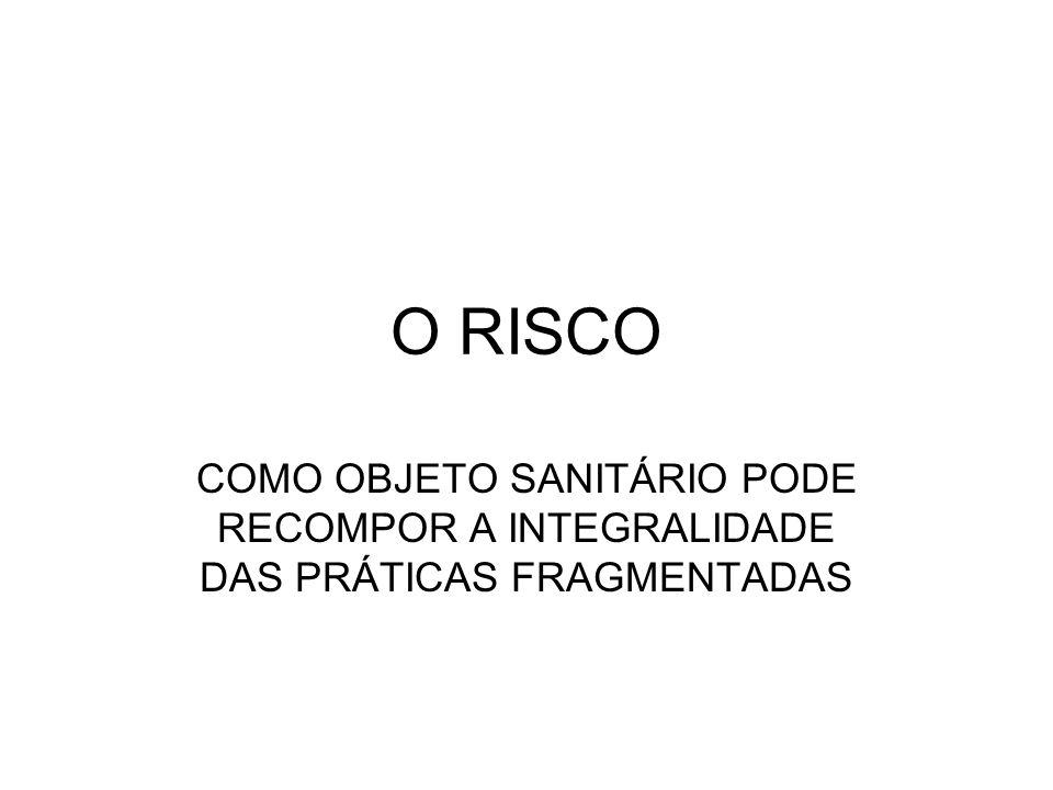 O RISCO COMO OBJETO SANITÁRIO PODE RECOMPOR A INTEGRALIDADE DAS PRÁTICAS FRAGMENTADAS