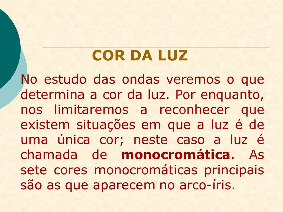 PRINCÍPIOS DA ÓPTICA GEOMÉTRICA PRINCÍPIO DA REVERSIBILIDADE DOS RAIOS
