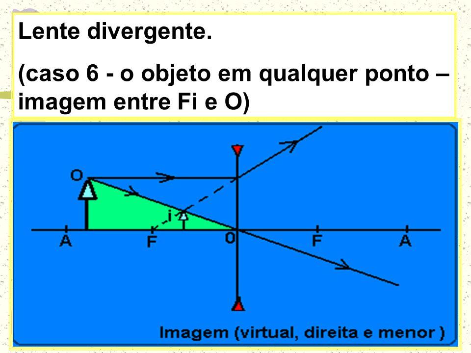 (caso 5 - o objeto entre F e O – imagem atrás de Ao)