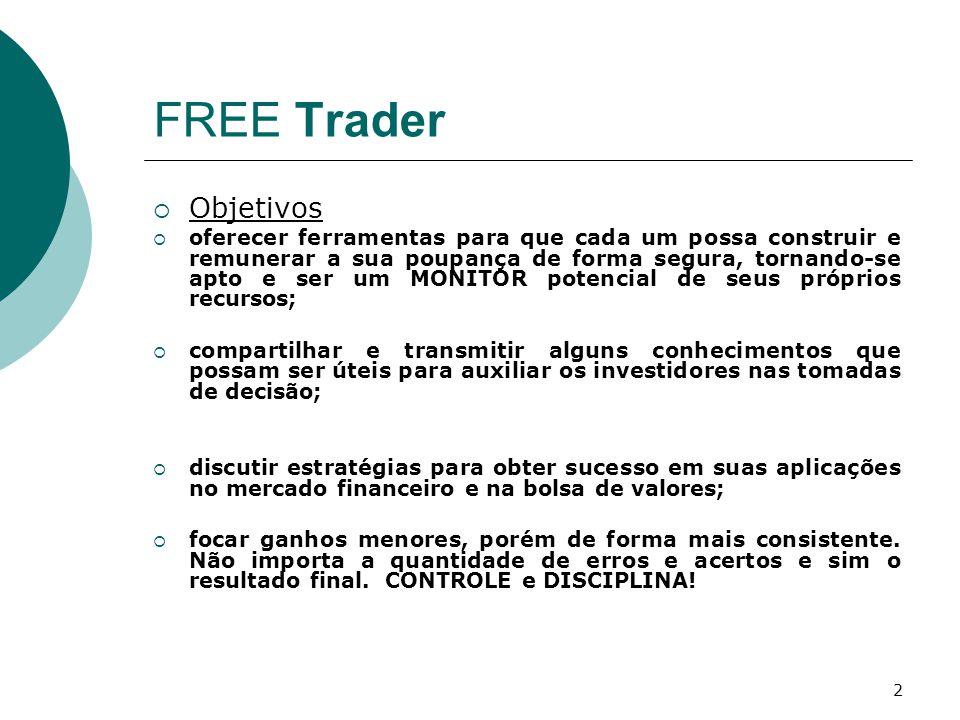 2 FREE Trader  Objetivos  oferecer ferramentas para que cada um possa construir e remunerar a sua poupança de forma segura, tornando-se apto e ser u