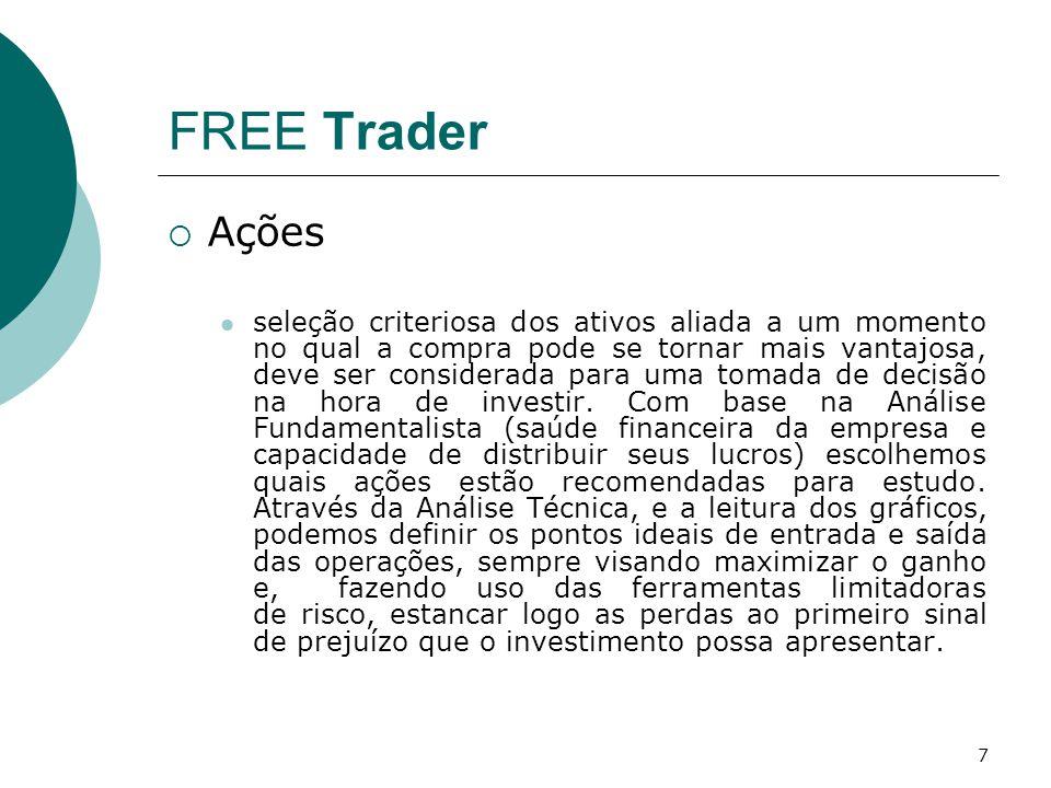 7 FREE Trader  Ações seleção criteriosa dos ativos aliada a um momento no qual a compra pode se tornar mais vantajosa, deve ser considerada para uma tomada de decisão na hora de investir.
