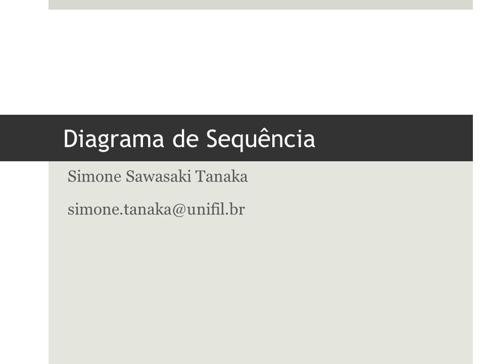 Diagrama de Sequência Simone Sawasaki Tanaka simone.tanaka@unifil.br