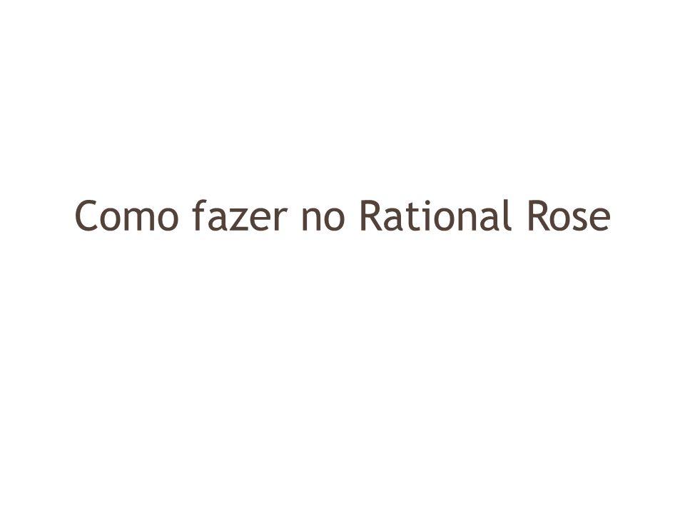 Como fazer no Rational Rose