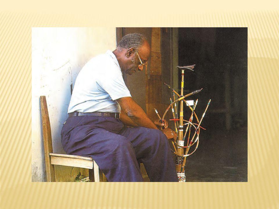 Opá Osanuin Gbegá 1995.Magnífico cetro da vegetação com serpentes.