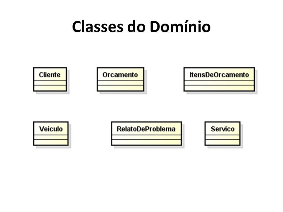 Classes do Domínio