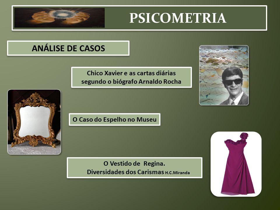 PSICOMETRIA ANÁLISE DE CASOS O Caso do Espelho no Museu Chico Xavier e as cartas diárias segundo o biógrafo Arnaldo Rocha Chico Xavier e as cartas diá