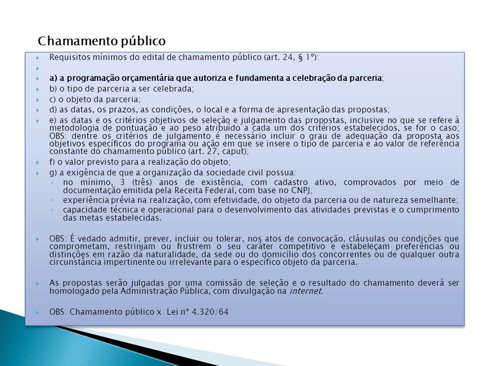  Requisitos mínimos do edital de chamamento público (art.