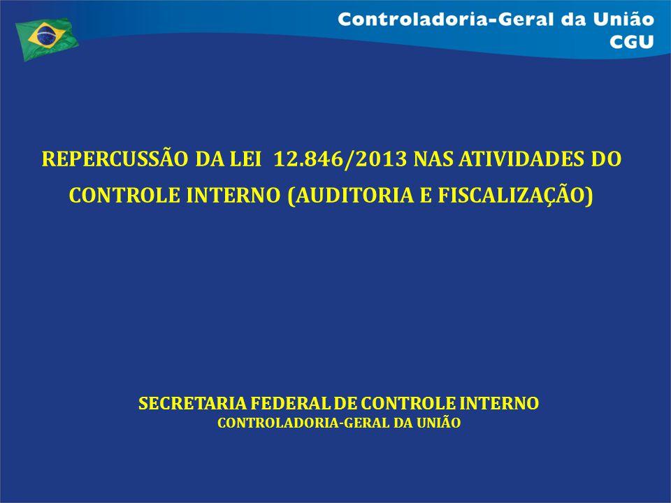 REPERCUSSÃO DA LEI 12.846/2013 NAS ATIVIDADES DO CONTROLE INTERNO (AUDITORIA E FISCALIZAÇÃO) SECRETARIA FEDERAL DE CONTROLE INTERNO CONTROLADORIA-GERA