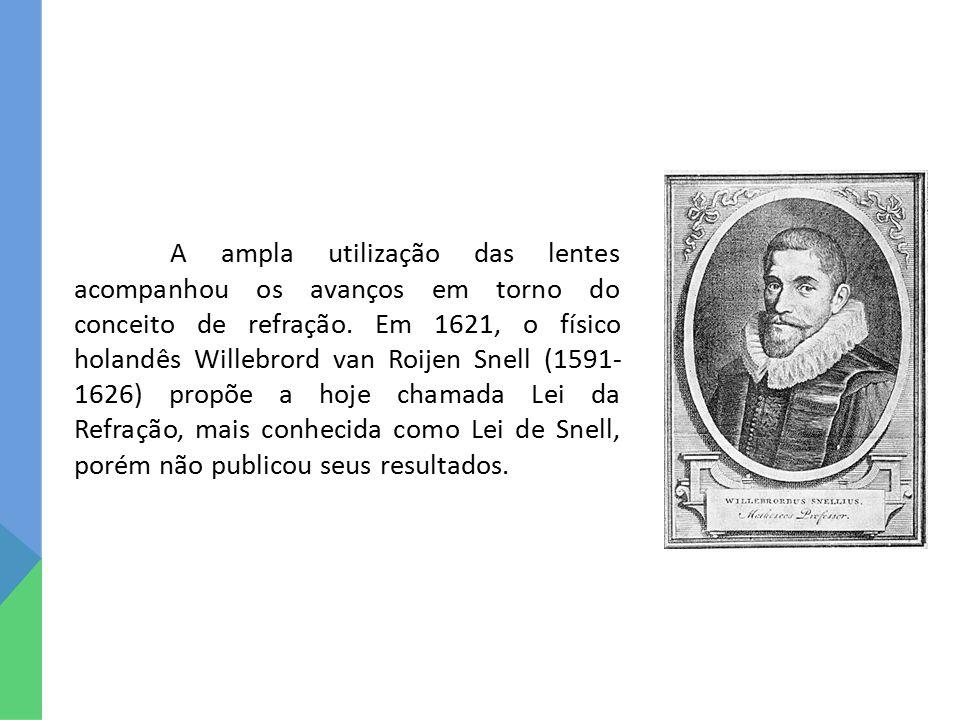 A ampla utilização das lentes acompanhou os avanços em torno do conceito de refração. Em 1621, o físico holandês Willebrord van Roijen Snell (1591- 16
