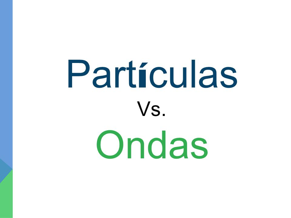 Part í culas Vs. Ondas