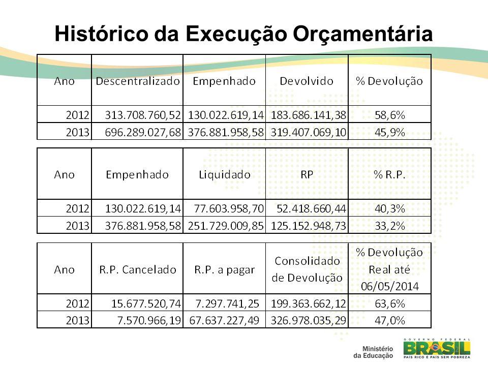2 Histórico da Execução Orçamentária