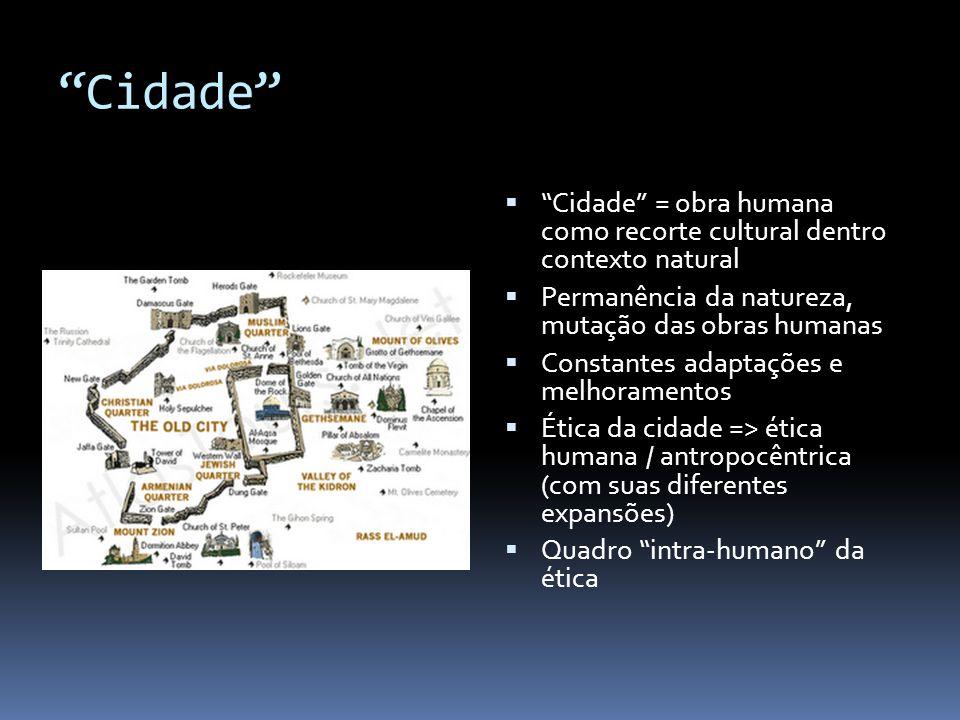 """""""Cidade""""  """"Cidade"""" = obra humana como recorte cultural dentro contexto natural  Permanência da natureza, mutação das obras humanas  Constantes adap"""