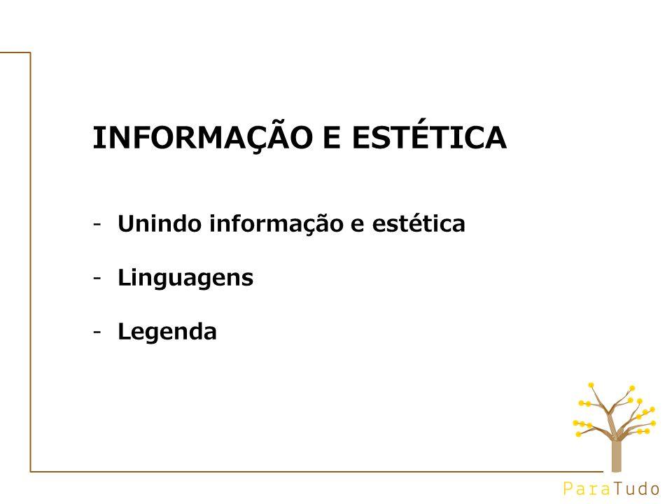 INFORMAÇÃO E ESTÉTICA -Unindo informação e estética -Linguagens -Legenda