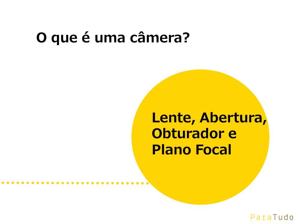 O que é uma câmera Lente, Abertura, Obturador e Plano Focal