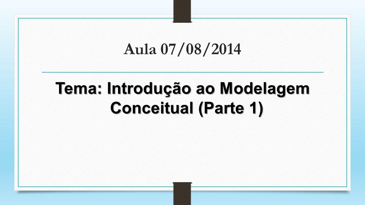 Aula 07/08/2014 Tema: Introdução ao Modelagem Conceitual (Parte 1)