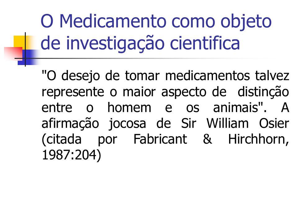 O Medicamento como objeto de investigação cientifica culturahistória econômica Ilustra o que se observa mundo afora.