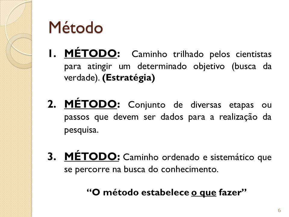 TÉCNICA - conjunto de procedimentos ou processos de uma ciência, nas diversas etapas do método.