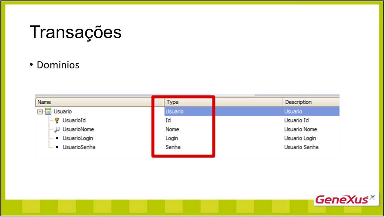 Regras Na transação de Usuário, fazer com que o sistema não permita inserir um usuário senha nome, login e senha.