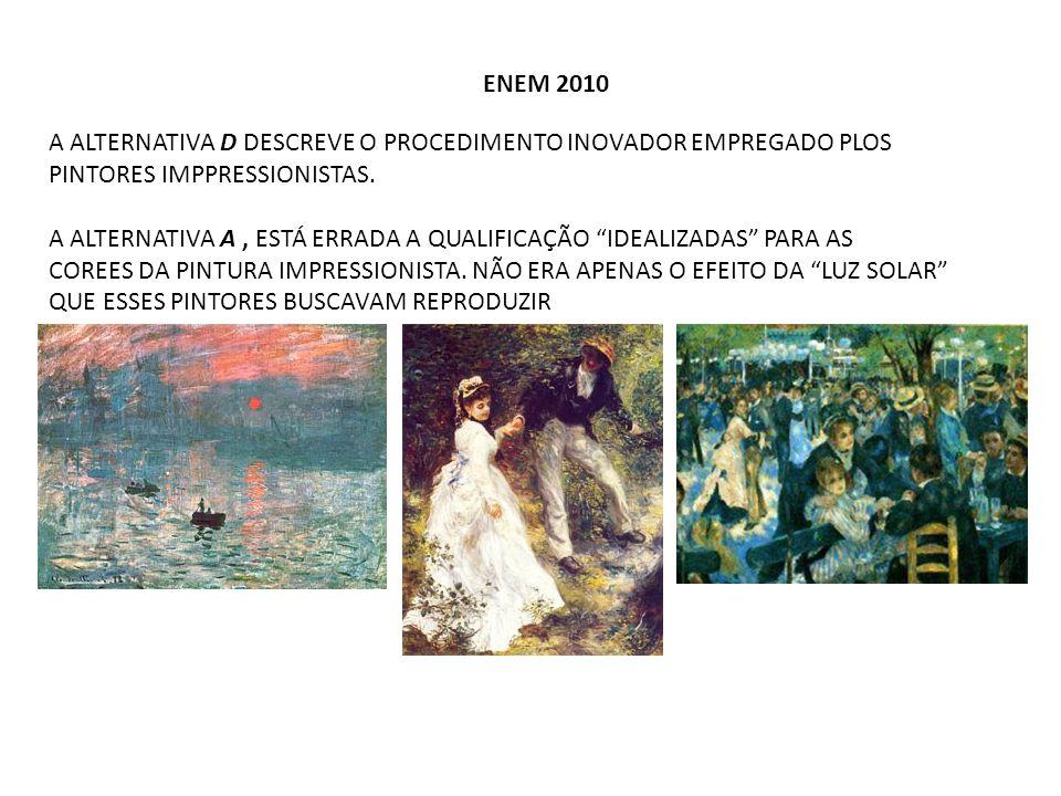 ENEM 2012 Picasso, P.Les Demoiselles d'Avignon. Nova York, 1907.