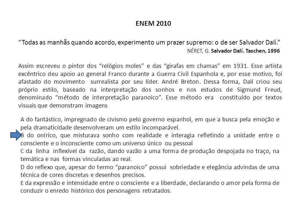 ENEM 2012 BARDI, P.M. Em torno da escultura no Brasil.