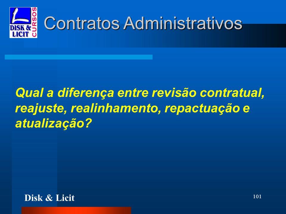 Disk & Licit 101 Contratos Administrativos Qual a diferença entre revisão contratual, reajuste, realinhamento, repactuação e atualização?