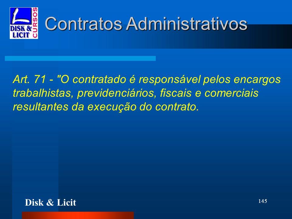 Disk & Licit 145 Contratos Administrativos Art. 71 -
