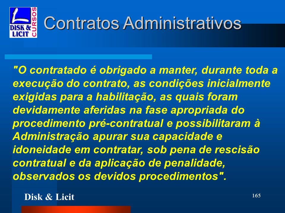 Disk & Licit 165 Contratos Administrativos