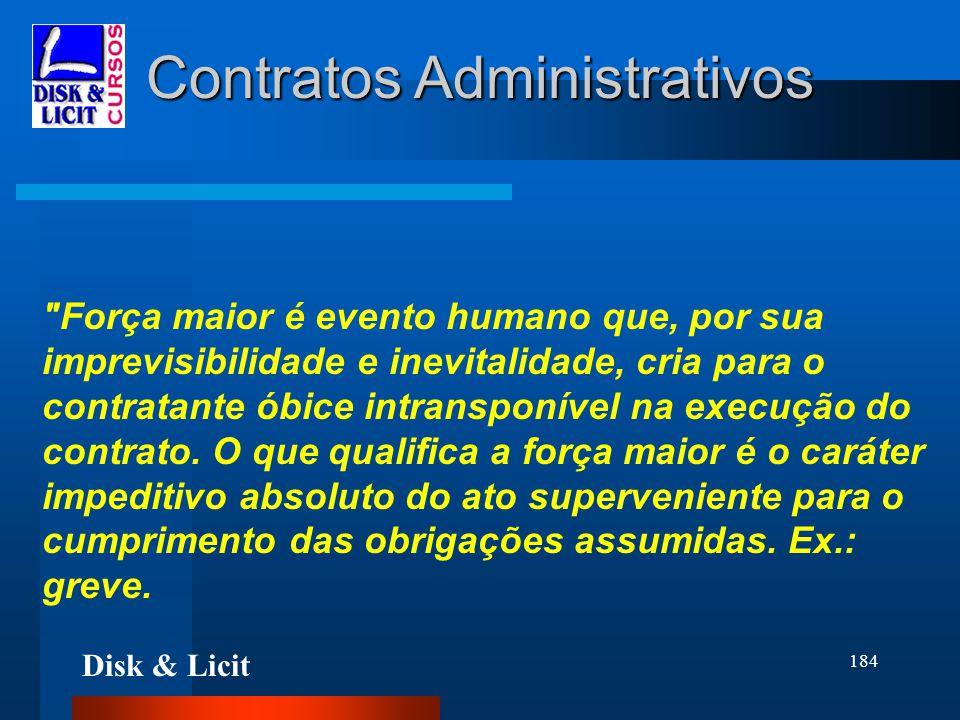 Disk & Licit 184 Contratos Administrativos