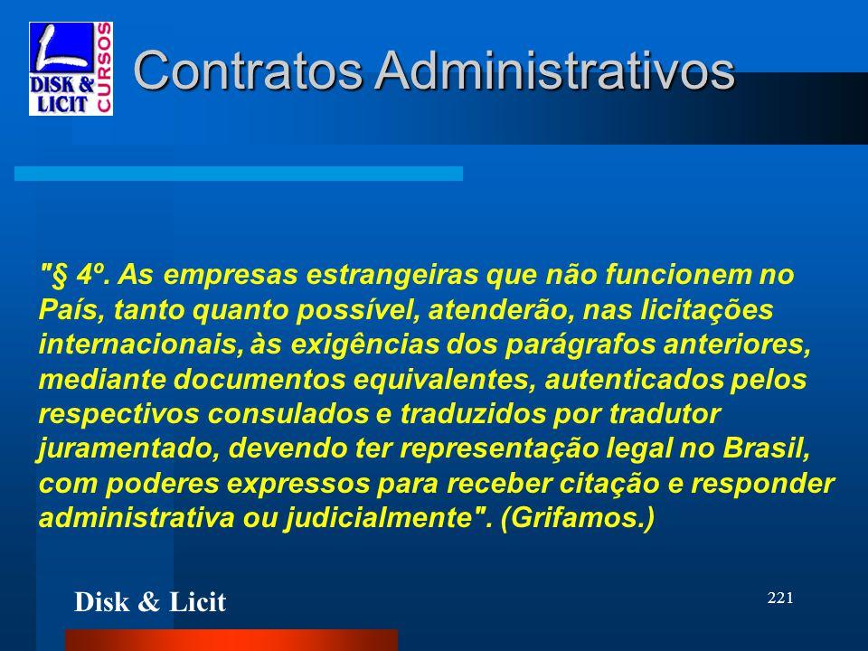 Disk & Licit 221 Contratos Administrativos