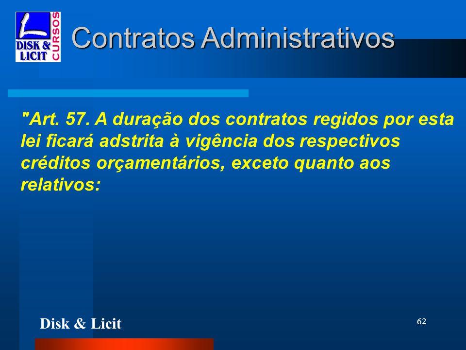 Disk & Licit 62 Contratos Administrativos