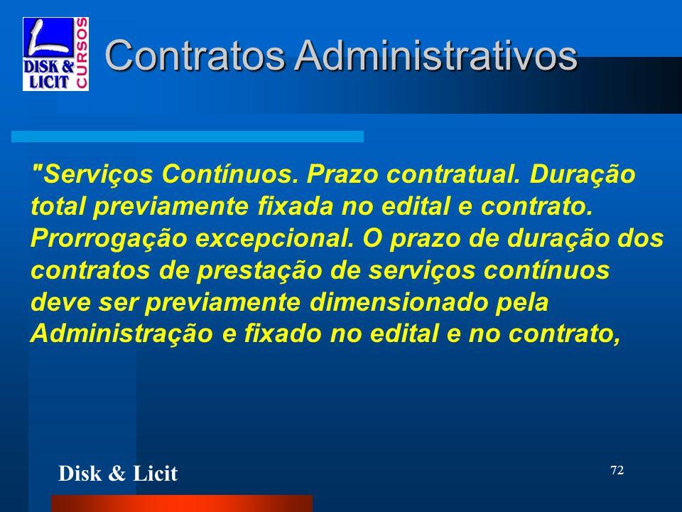 Disk & Licit 72 Contratos Administrativos