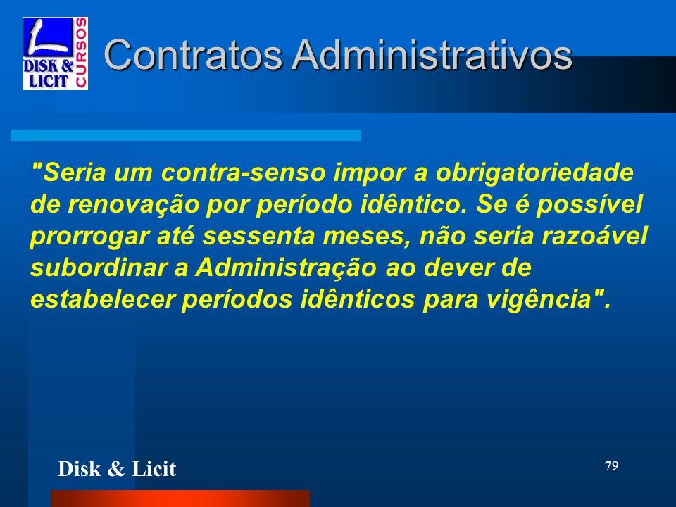 Disk & Licit 79 Contratos Administrativos