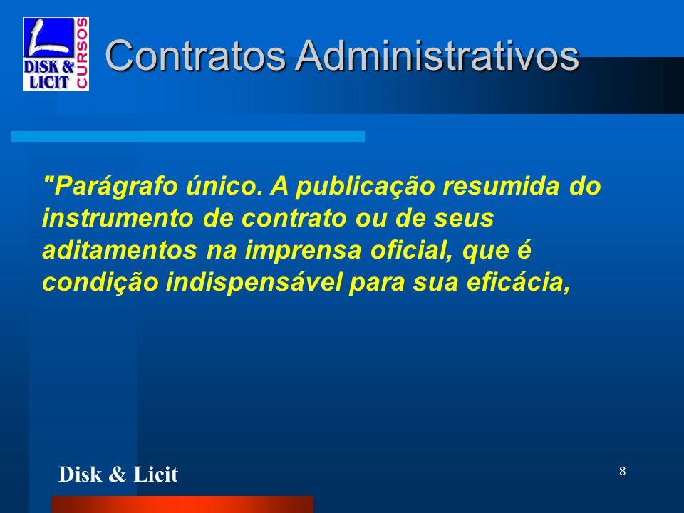 Disk & Licit 8 Contratos Administrativos