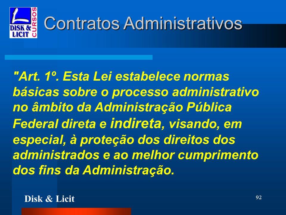 Disk & Licit 92 Contratos Administrativos