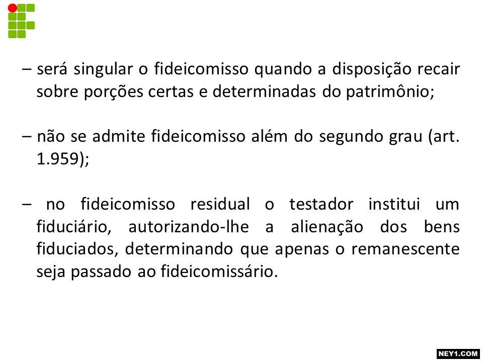 17.3.3.Fideicomitente, fiduciário e fideicomissário.