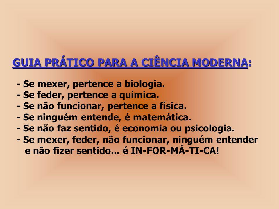 GUIA PRÁTICO PARA A CIÊNCIA MODERNA: GUIA PRÁTICO PARA A CIÊNCIA MODERNA: - Se mexer, pertence a biologia.