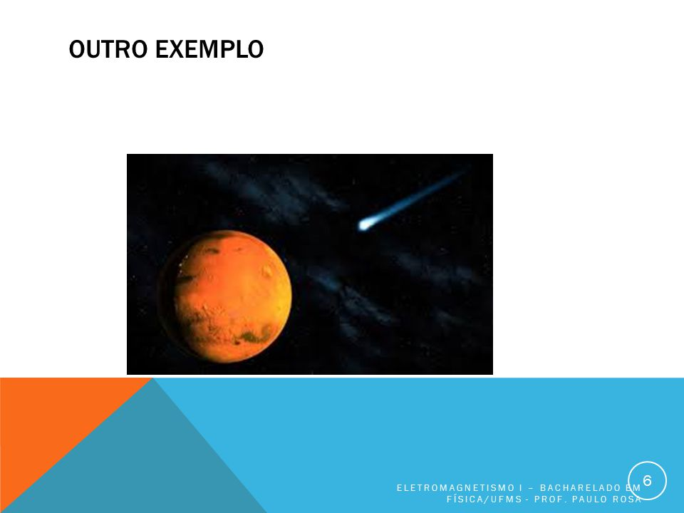 OUTRO EXEMPLO ELETROMAGNETISMO I – BACHARELADO EM FÍSICA/UFMS - PROF. PAULO ROSA 6