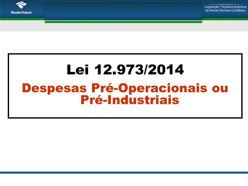 Despesas pré-operacionais, pré-industriais e de expansão das atividade industriais Lucro Contábil