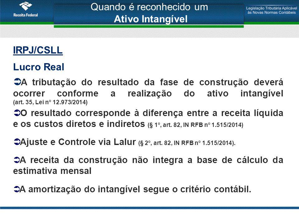 IRPJ/CSLL Lucro Presumido/Arbitrado Receita Bruta  A Receita Bruta de construção não integra a base de cálculo (art.