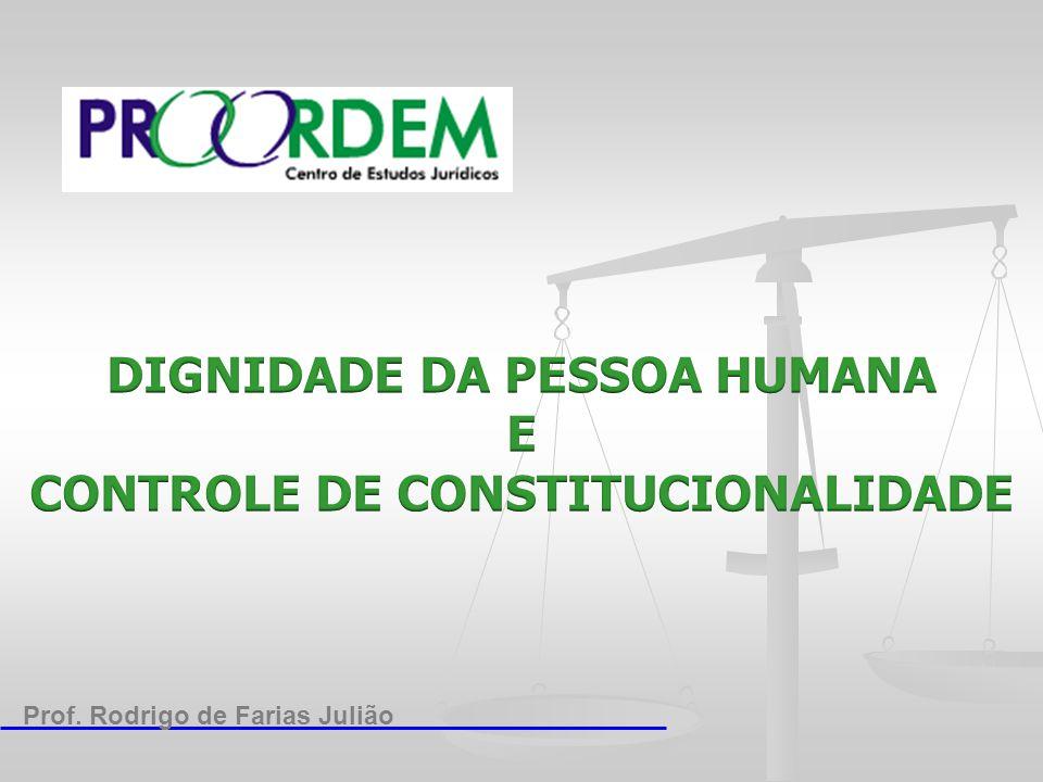 DIGNIDADE DA PESSOA HUMANA FUNDAMENTO CONSTITUCIONAL ● Artigo 1º C.F.