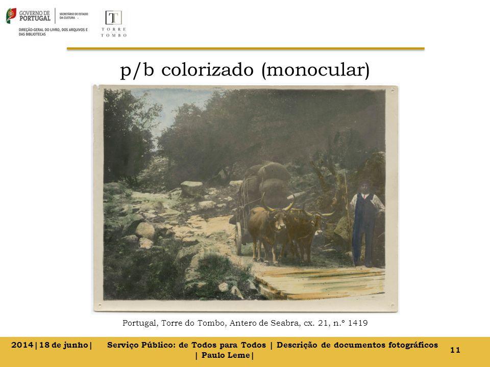 p/b colorizado (monocular) Portugal, Torre do Tombo, Antero de Seabra, cx.