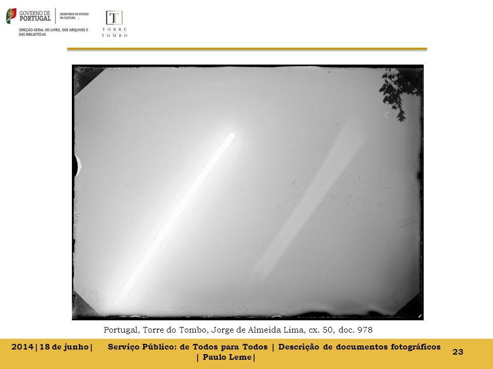 Portugal, Torre do Tombo, Jorge de Almeida Lima, cx. 50, doc. 978 23 2014|18 de junho| Serviço Público: de Todos para Todos | Descrição de documentos