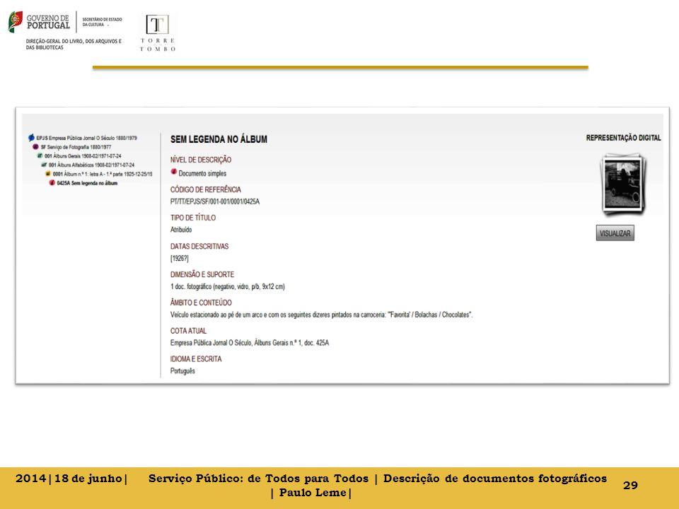 29 2014|18 de junho| Serviço Público: de Todos para Todos | Descrição de documentos fotográficos | Paulo Leme|