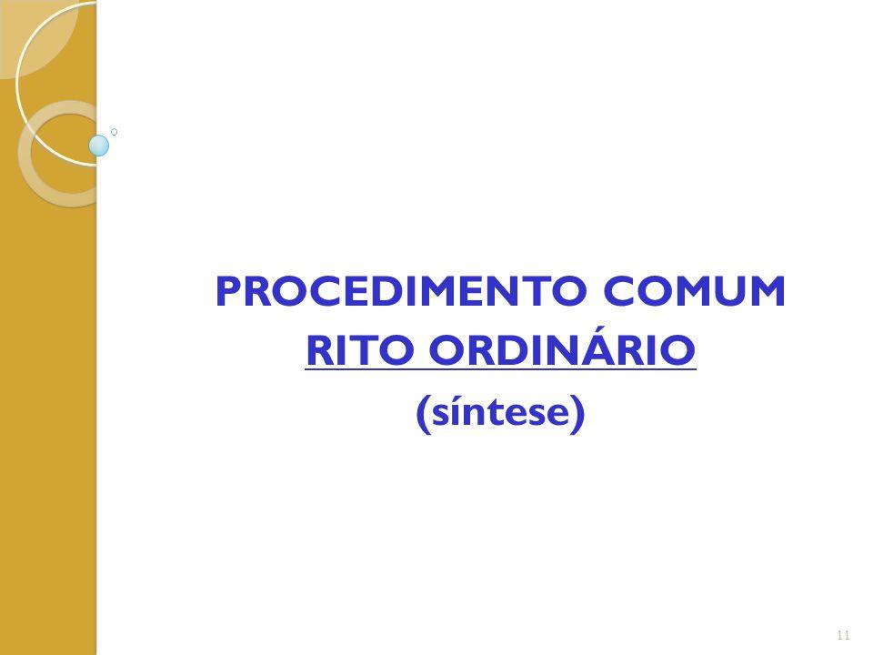 PROCEDIMENTO COMUM RITO ORDINÁRIO (síntese) 11
