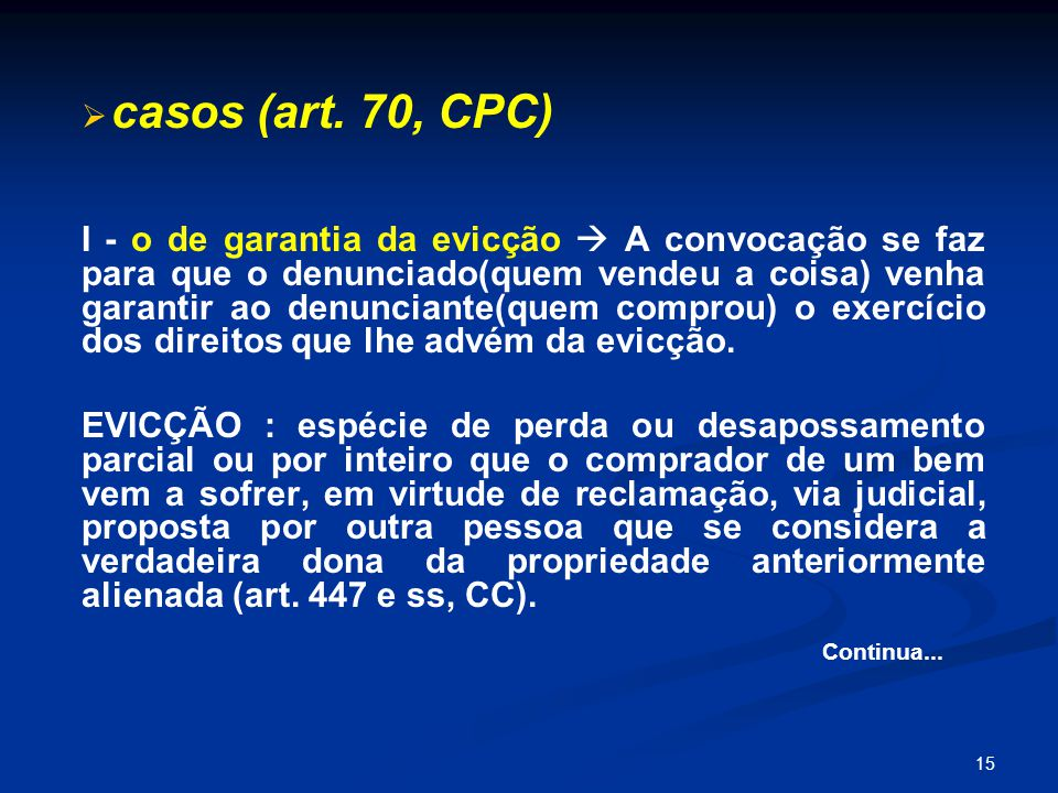 15   casos (art.