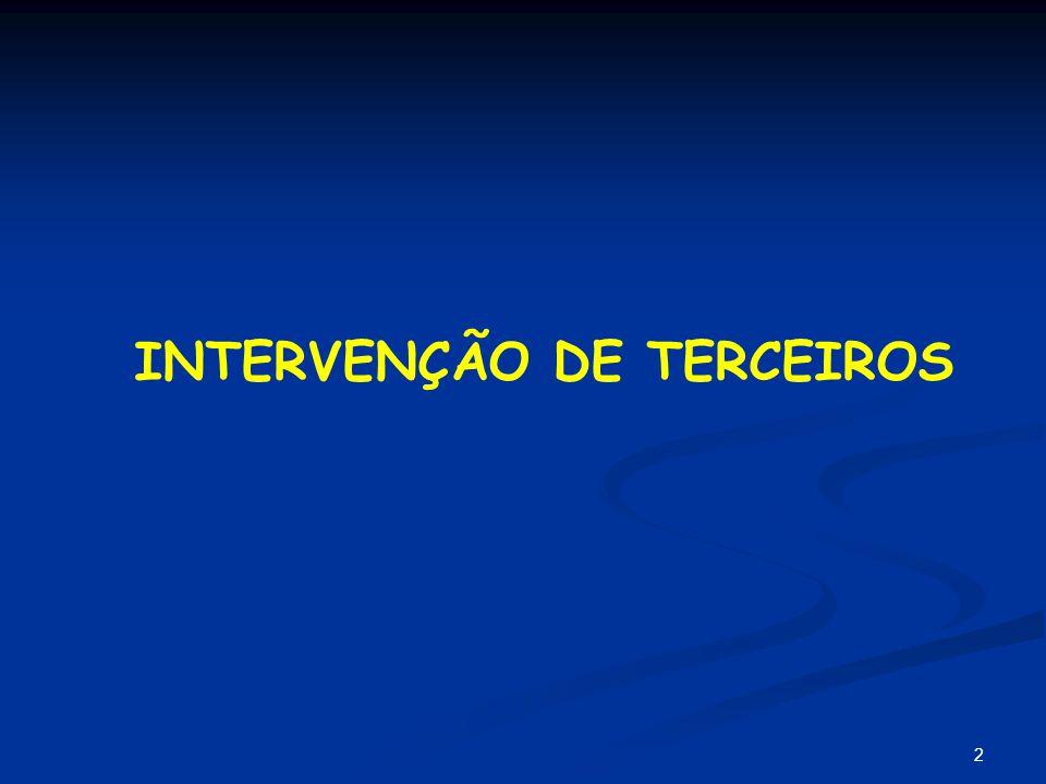 3 CONCEITO Segundo José Frederico Marques ocorre o fenômeno processual chamado intervenção de terceiro quando alguém ingressa, como parte ou coadjuvante da parte, em processo pendente entre outras partes.