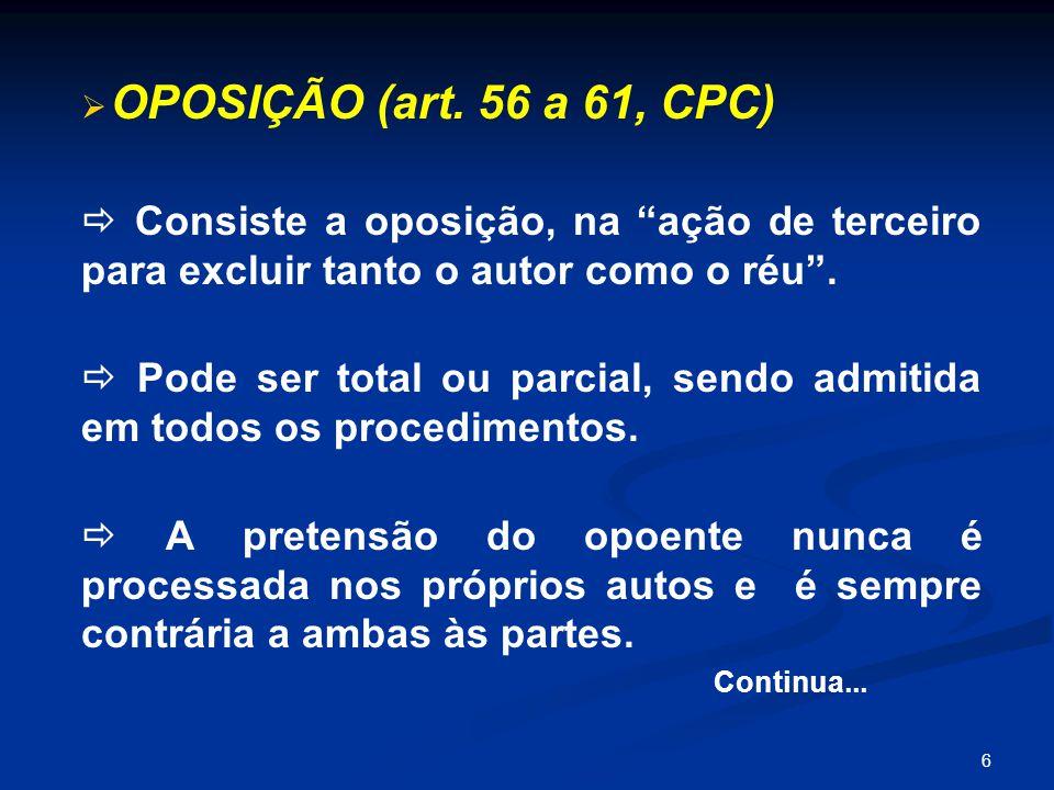 6   OPOSIÇÃO (art.